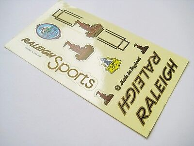 Lot of 2 Vintage transparent sticker RALEIGH set for Bicycle Bike Frame