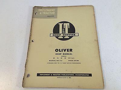 Vintage 1953 Implement Tractor Shop Manual - Oliver Series 60 70 80 90 99 0-2