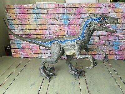 JURASSIC PARK WORLD Dino Rivals Super Colossal Velociraptor BLUE large dinosaur