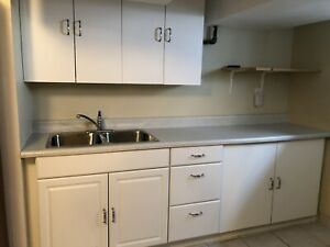 Kitchen Cabinets, Counter and Sink!
