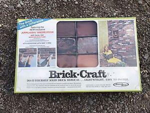 Faux brick wall kit