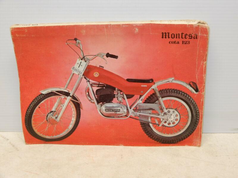 ORIGINAL VINTAGE MONTESA COTA 123 TRIALS MOTORCYCLE LARGE OWNERS GUIDE 1972
