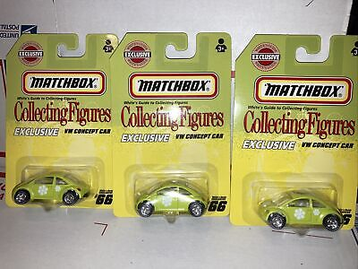 Matchbox Exclusive Collecting figures 3 VW concept car whites guide #66, CV7