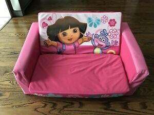 Dora the Explorer foldable play couch / toddler bed