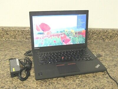 "Lenovo Thinkpad T450 14"" Intel i5-5300U @2.30GHz 8GB RAM w/ AC Adapter Laptop"