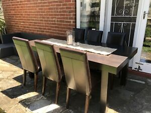 Large 8 Seat Dining Table Chairs