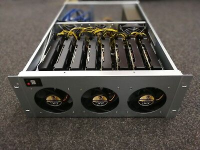 8 GPU Grafikkarten 19 Zoll Mining Gehäuse Case 4HE Rig Ethereum Bitcoin Zcash