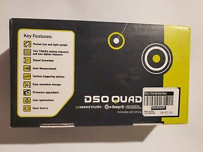 Seeed Studio Dso Quad V2.6 4-channel Oscilloscope Silver Aluminum