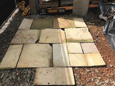 Indian Sandstone. Shed base 1800mm x 1800mm paving slabs