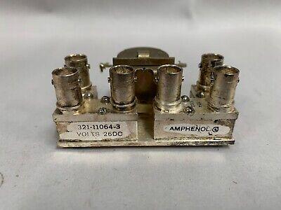 Amphenol 321-11064-3 - Dpdt Rf Coaxial Relay W 6 Bnc Connectors B15