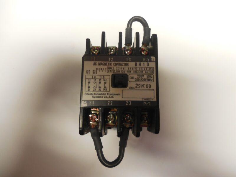HITACHI CONTACTOR BH10 18A A AMP 220V COIL