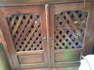 Wooden Balinese 2door lockable Edgewater Joondalup Area Preview