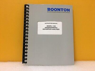 Boonton 98401700b 1130 Programmable Distortion Analyzer Instruction Manual