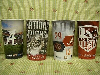 4 Alabama Football Stadium Cups from Bryant Denny Iron Bowl cup Christmas gift