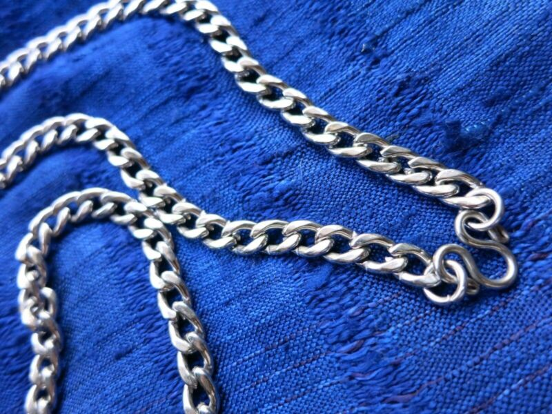 """Sleek Classic 30"""" Stainless Steel Chain Link Necklace Strong Thai Amulet Display"""