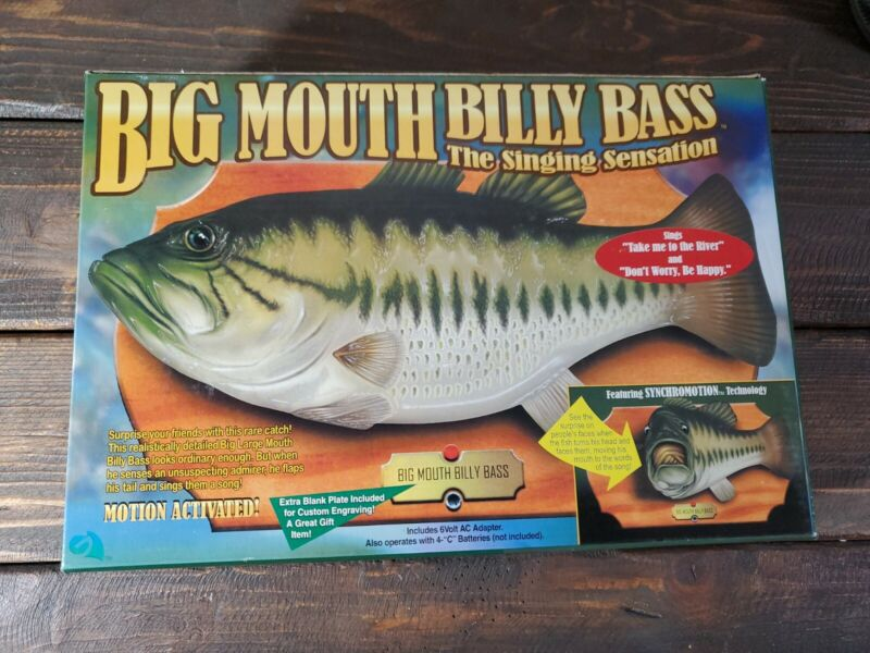 1998 Vintage Big Mouth Billy Bass The Singing Sensation New  Original Box