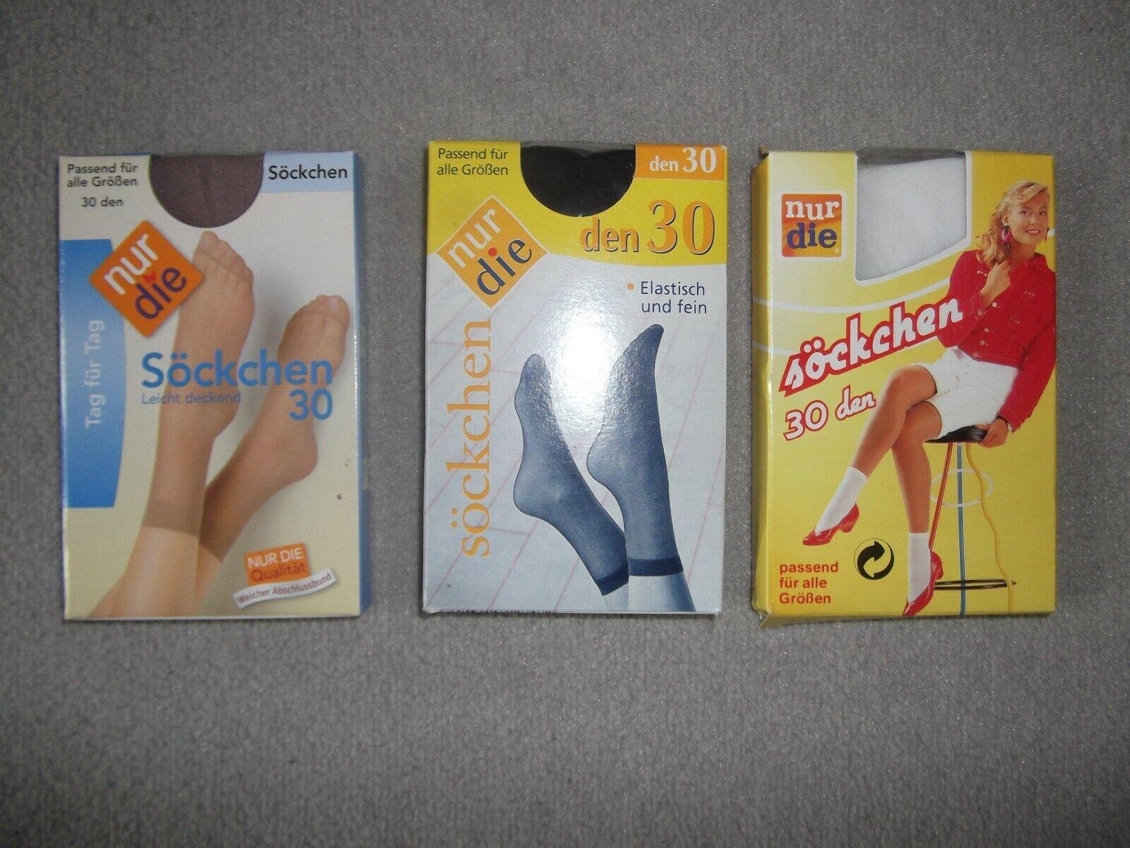 NEU OVP 3x NUR DIE Socken 30 den DAMEN one size