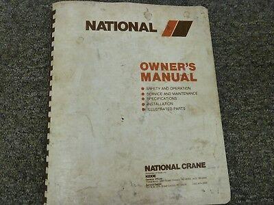 National 6 Series 6t38 6t47 6t56 Crane Parts Catalog Service Repair Manual