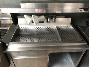 Stainless Steel heated dump station with storage