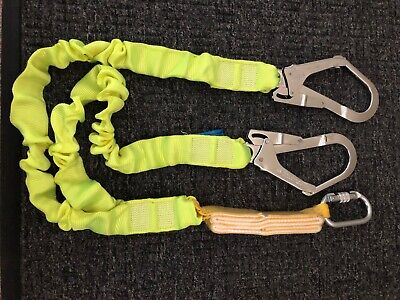 New Fall Protection Safety Lanyard 6 Double Leg With Dual Rebar Hook
