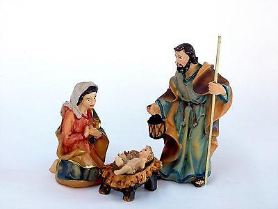 K132-01 Krippenszene Hlg. Familie 8cm Krippenfiguren 4 teilig Johanneskrippe