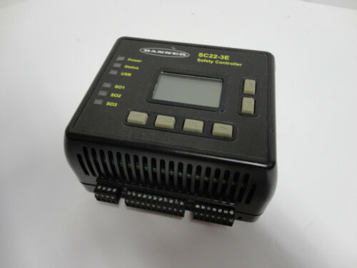 Banner Engineering SC22-3E Safety controller Ethernet with screw terminals