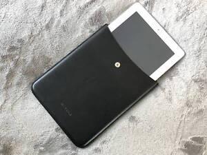 iPad case JIL SANDER Black leather fits iPad Pro, iPad3, iPad Air