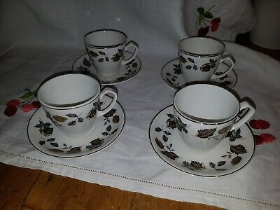 Alfred Meakin China ( 4 x Alfred Meakin Springwood China  Coffee Cups & Saucers circa 1975/1976)