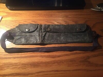 Leather fanny pack brought back from WW2 WITH EW GILLENNATER STILL SOFT !