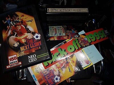 Super Sidekicks 3 SNK Neo Geo MVS Cartridge Arcade kit Complete In Shock Box