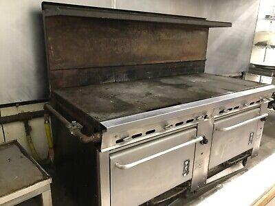 Commercial Stove Montague 6 Burner 2 Oven 1993 Model W Manufacturers Warranty