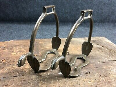 US MEXICAN WAR PAIR OF DRAGOON STIRRUPS WITH SPURS