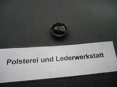 50 Ziernägel/Polsternägel Diamant / schwarz Silberfassung 11,5 Dm  (Schwarz, Polster-nägel)