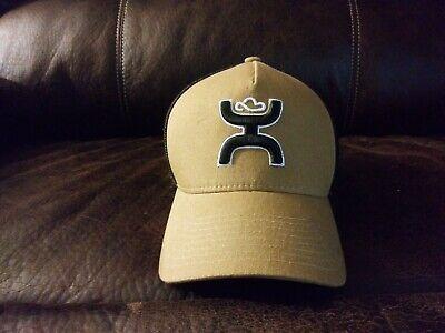 HOOEY HAT L/XL BROWN AND BLACK FLEXFIT NWOT