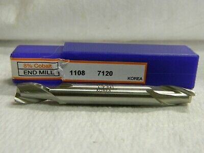 Cobalt Square End Mill Double End Center Cutting Qty 3 01874247