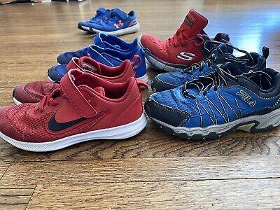 Kids Shoes Lot Size 1 Nike, Fila, Sketcher