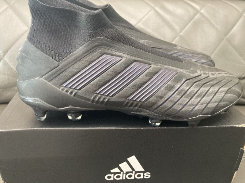 Adidas Predator 19+ FG Size 10 US Soccer Cleats Boots Men's Black F35612 Limited