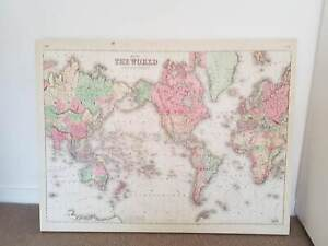 World map in sydney region nsw art gumtree australia free local typo canvas world map ready to hang gumiabroncs Gallery