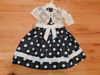Bonnie Jean, NWT, Size 2T & 3T, Navy Lovely Dress, fit for an Angel!!!!](Size 2t 3t)