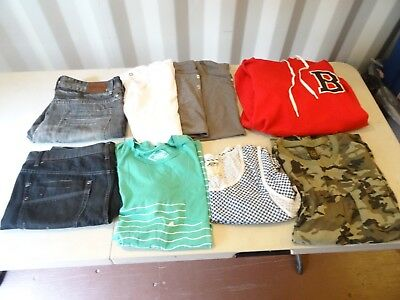 Lot of 9 Zoo York OBEY VANS Short TANK TOPS T SHIRT HOODIE SZ XL AND SZ 36