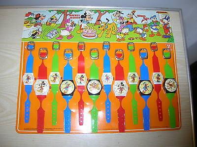 VINTAGE Disney Micky Maus Donald Kinderuhren-Set (OHNE Funktion) ca. 80er Jahre