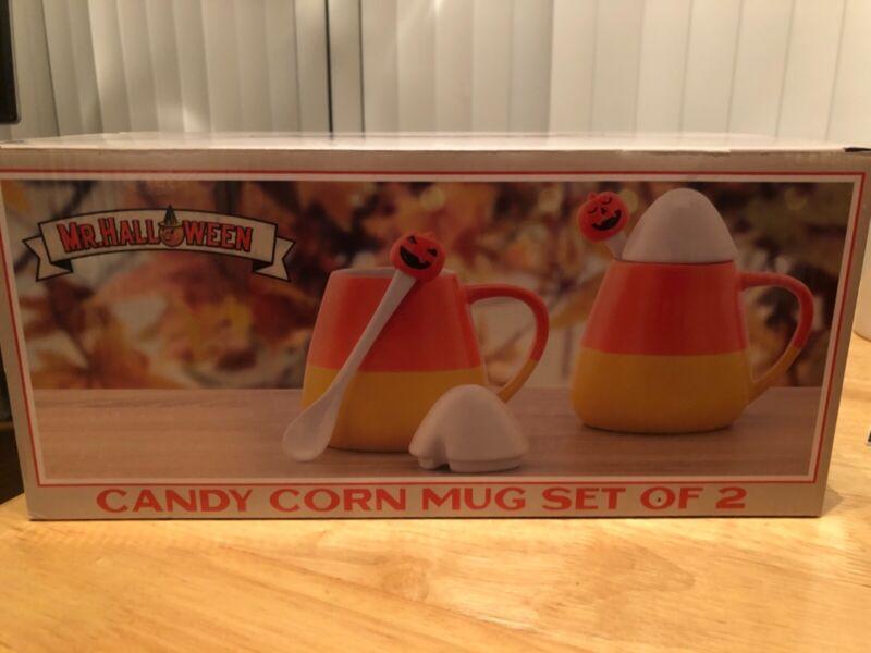 Mr. Halloween Candy Corn Mug Set of 2 (UNOPENED BOX!)