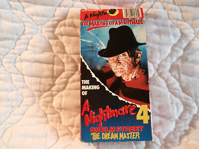 THE MAKING OF A NIGHTMARE ON ELM STREET 4 DREAM MASTER VHS HORROR ROBERT - Documentary On Halloween