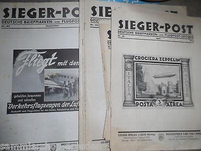 23x  LUFTPOST ZEPPELINPOST Sieger-Post 1933 1934 1935  44 48-49 51 52 53 54 55