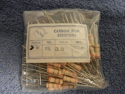 2 watt (2W) 5% Carbon Film (CF) Resistors (100 pieces) Jard  US SELLER NEW