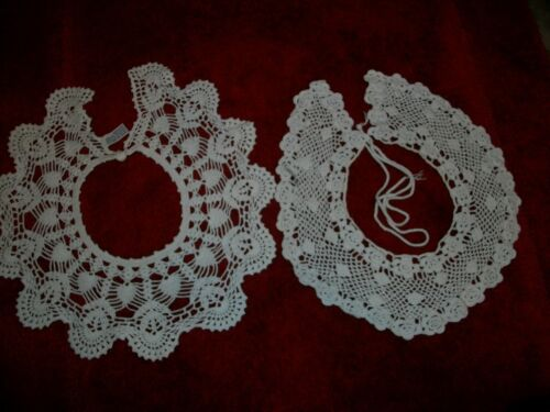 Crochet lace collar  2 one has catch and one is tie a bow in install