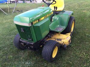 """John Deere 332 diesel 50"""" mower"""