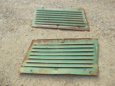 Oliver 88 Diesel Tractor Original Front Engine Motor Side Cover Panel Curtains