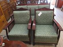 Antique Jacobean Lounge Suite Set Queen Anne Cane Rosewood Queenstown Port Adelaide Area Preview