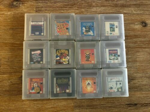 Lot of 12 Nintendo Game Boy/Game Boy Color games with manuals